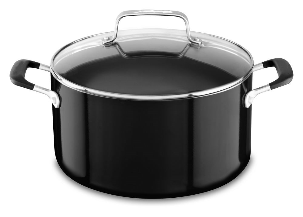 Aluminum Nonstick 6.0 Quart Stockpot with lid